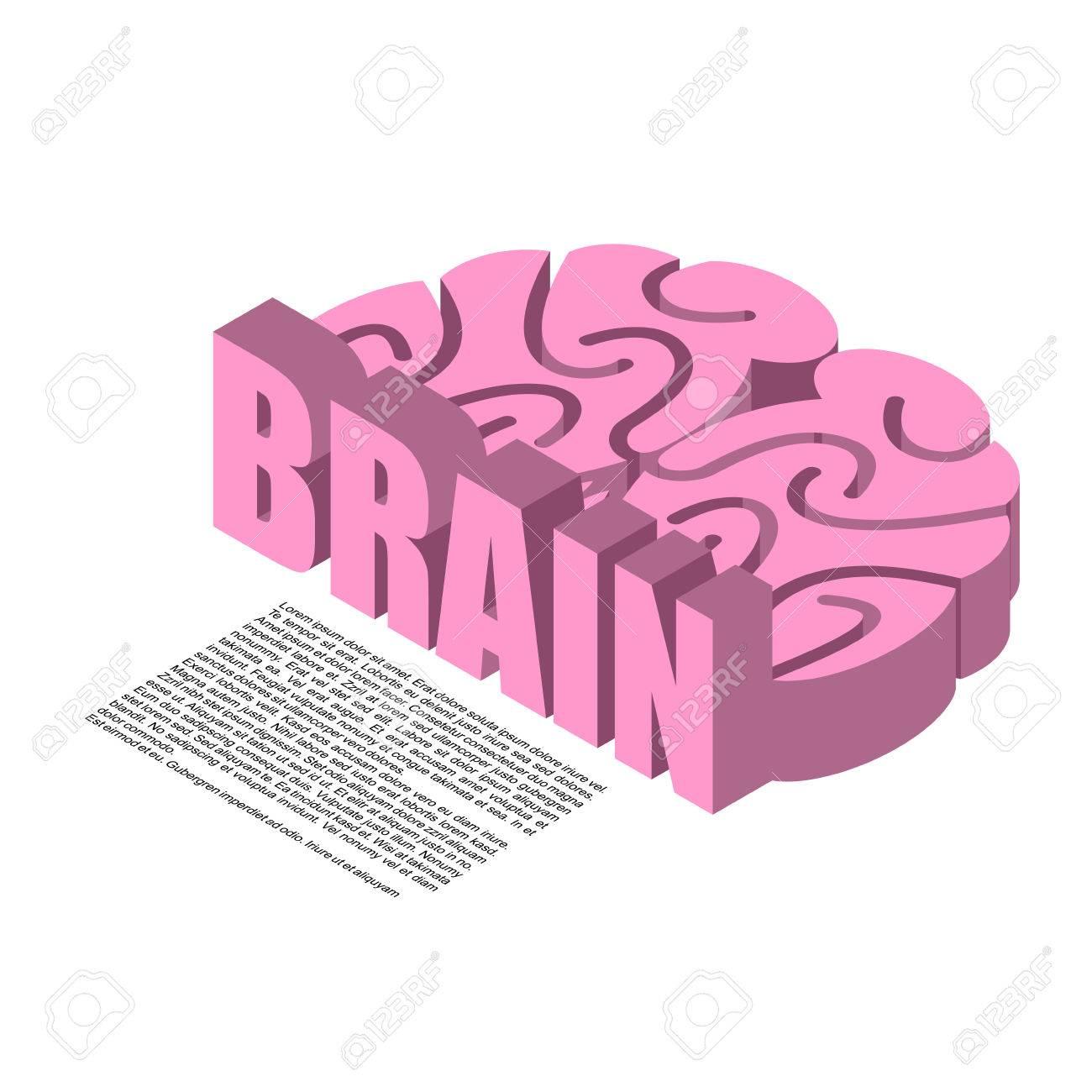 La Estructura Del Cerebro De La Infografía. Los Cerebros Dolor De ...