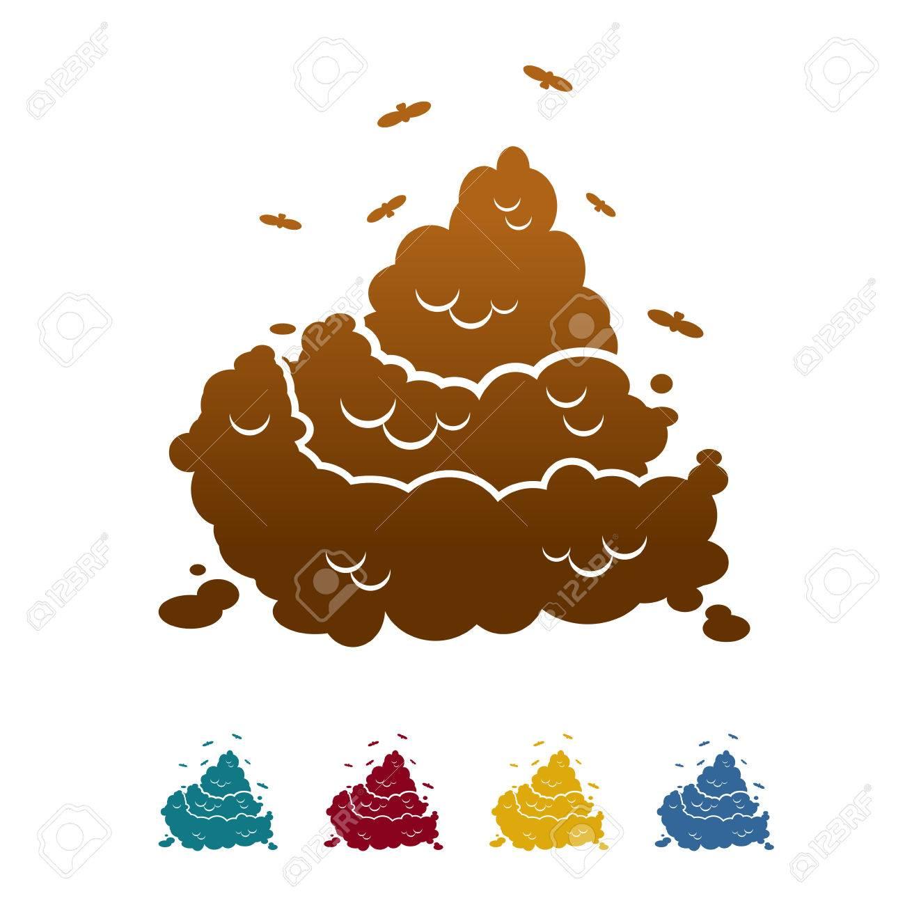 Brown Kacke Und Fliege Offensive Stück Scheiße Farbe Kot Und Kot