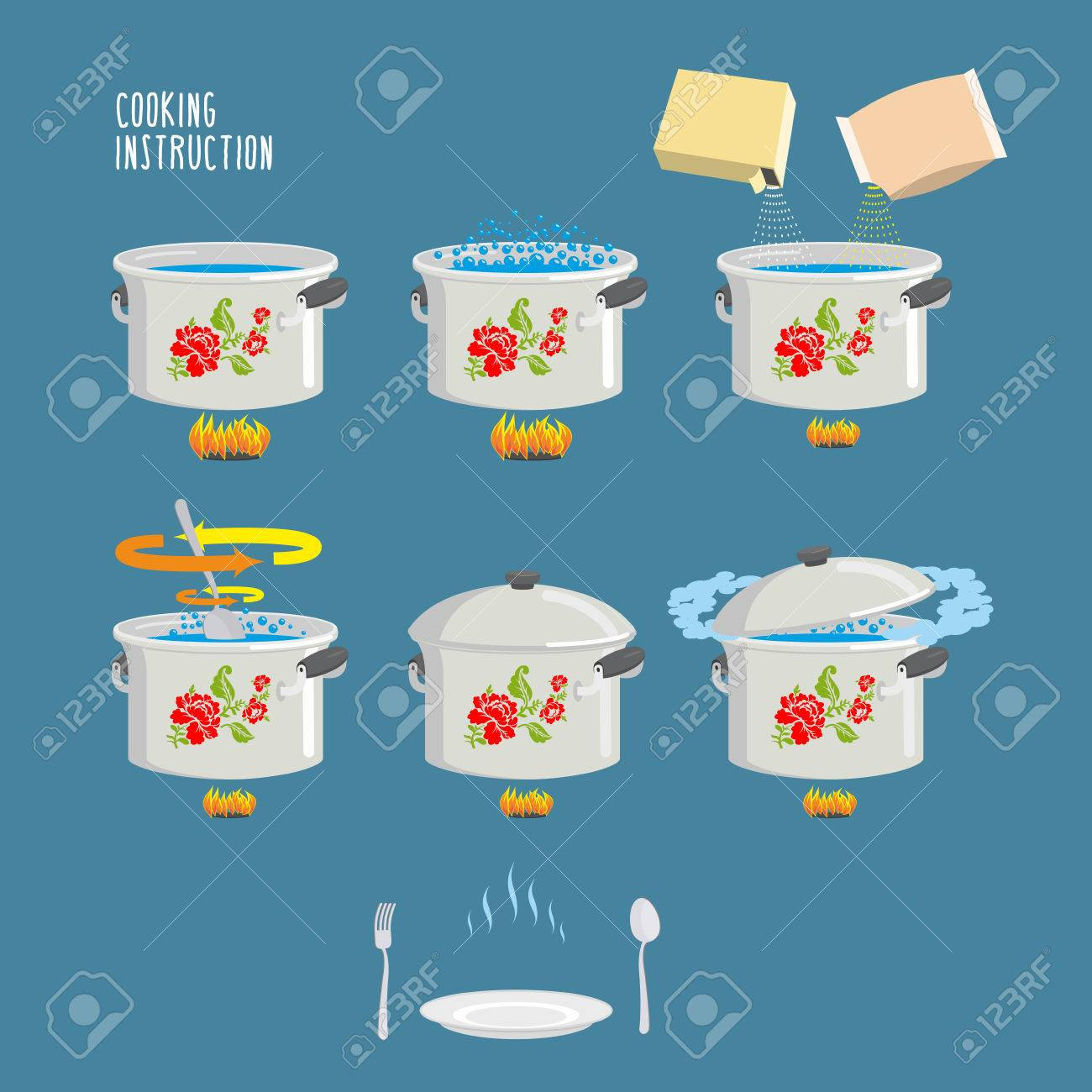 Instruction cooking. Home Cooking Recipe. cooking recipe, step..