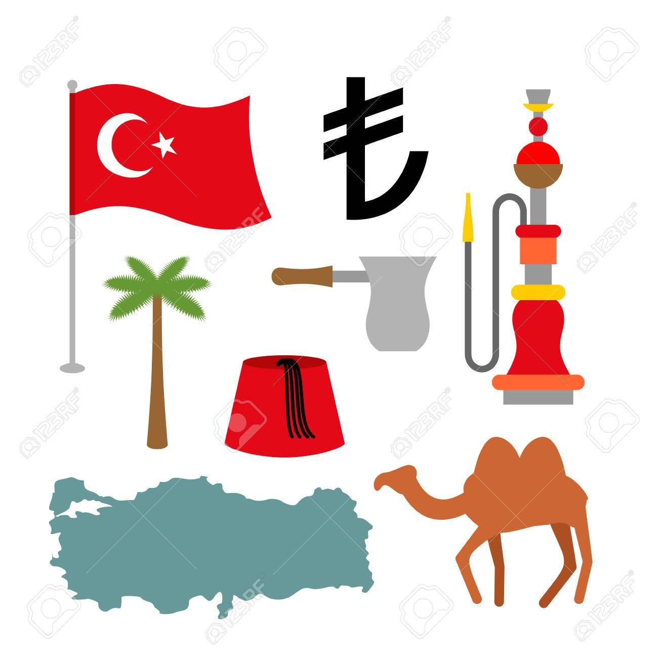 Turkey symbol set turkish national icon state traditional sign turkey symbol set turkish national icon state traditional sign map and flag of biocorpaavc Images