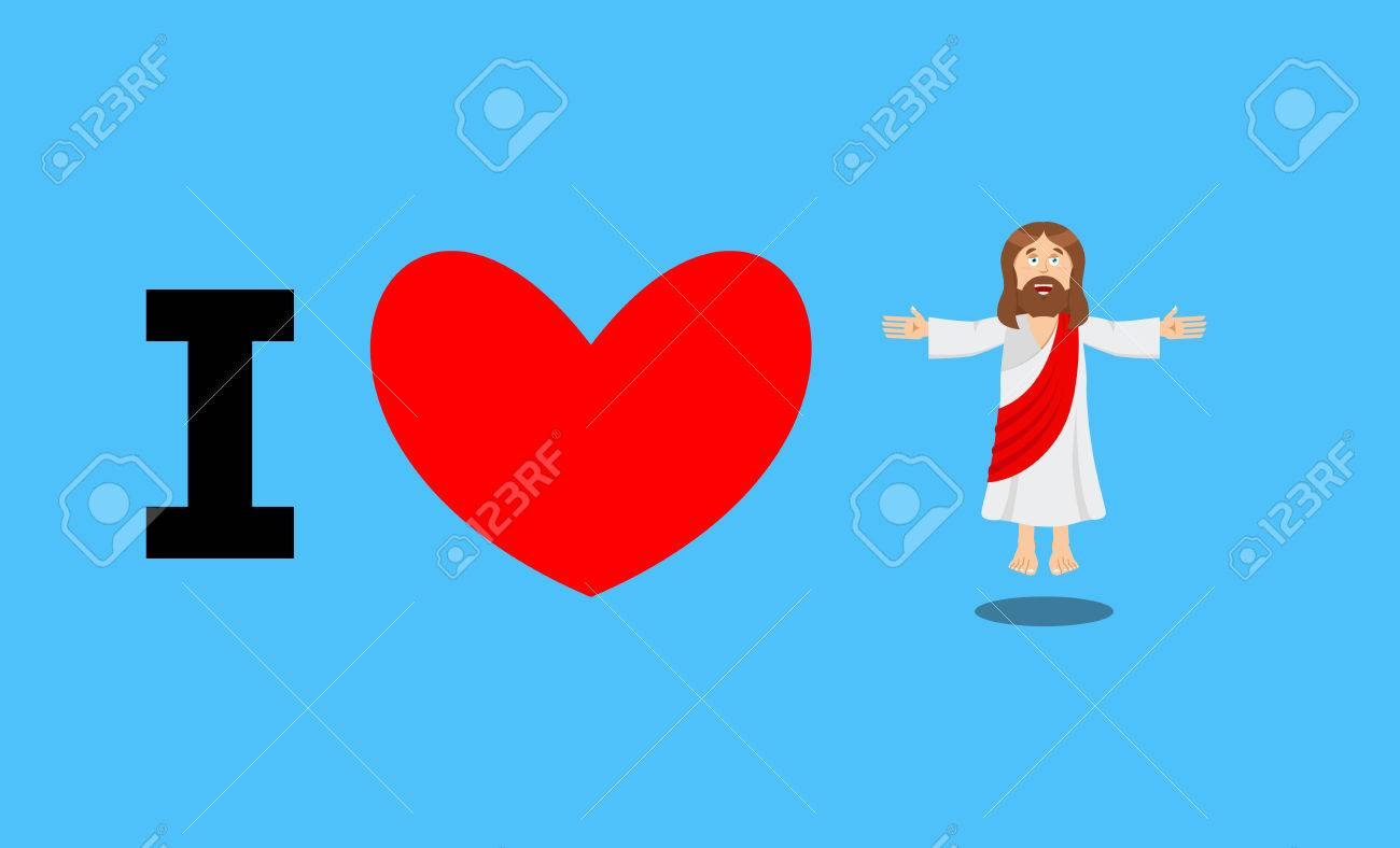 i love jesus symbol of heart and son of god biblical characters