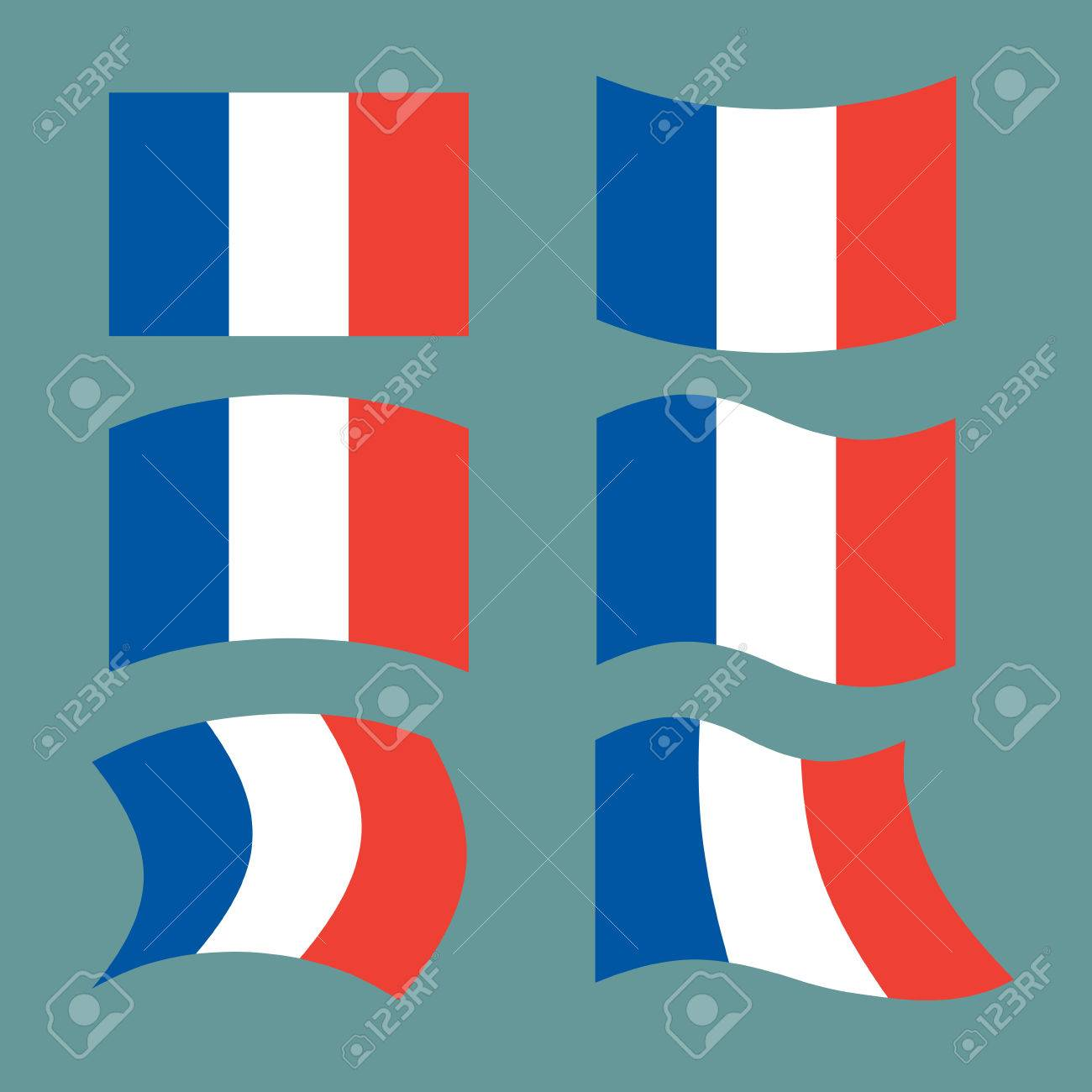 Flag Of France Set National Flag Of French State State Symbol