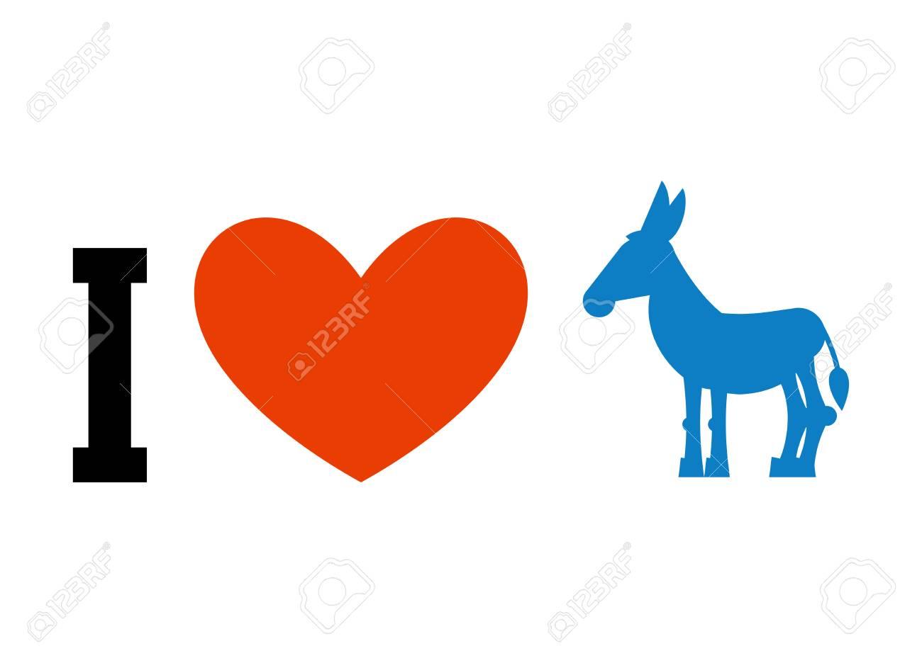 I love democrat symbol of heart and donkey poster for elections i love democrat symbol of heart and donkey poster for elections in usa buycottarizona