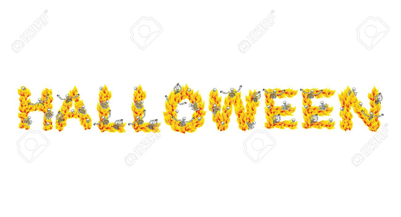 Fire halloween letters skeletons in hell sinners in inferno fire halloween letters skeletons in hell sinners in inferno satanic symbol hellish biocorpaavc