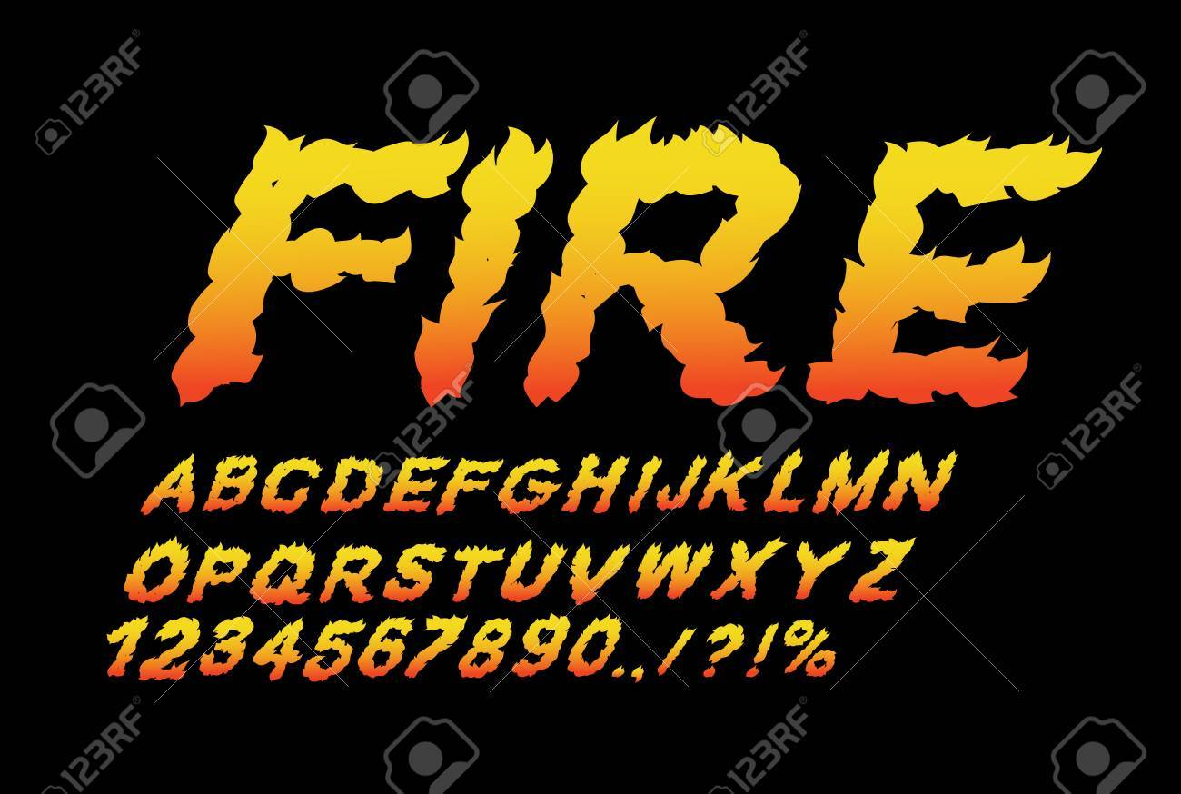 Fire font  Flame ABC  Fiery letters  Burning alphabet  Hot typography