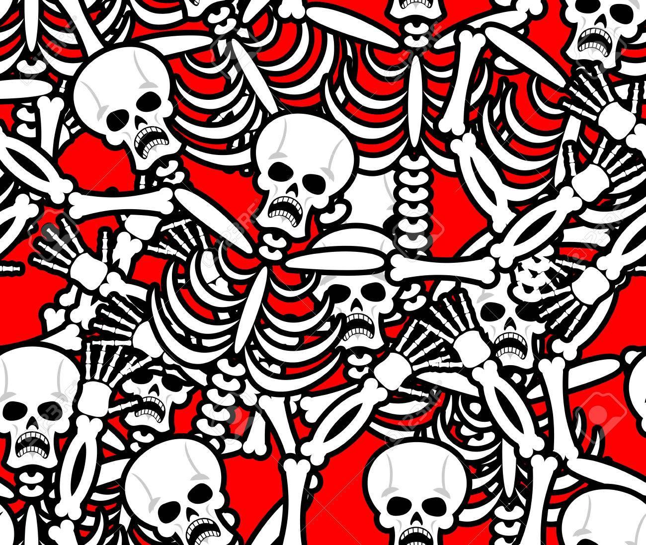 Modelo Inconsútil Del Infierno. Esqueleto En El Fondo Pecadores ...