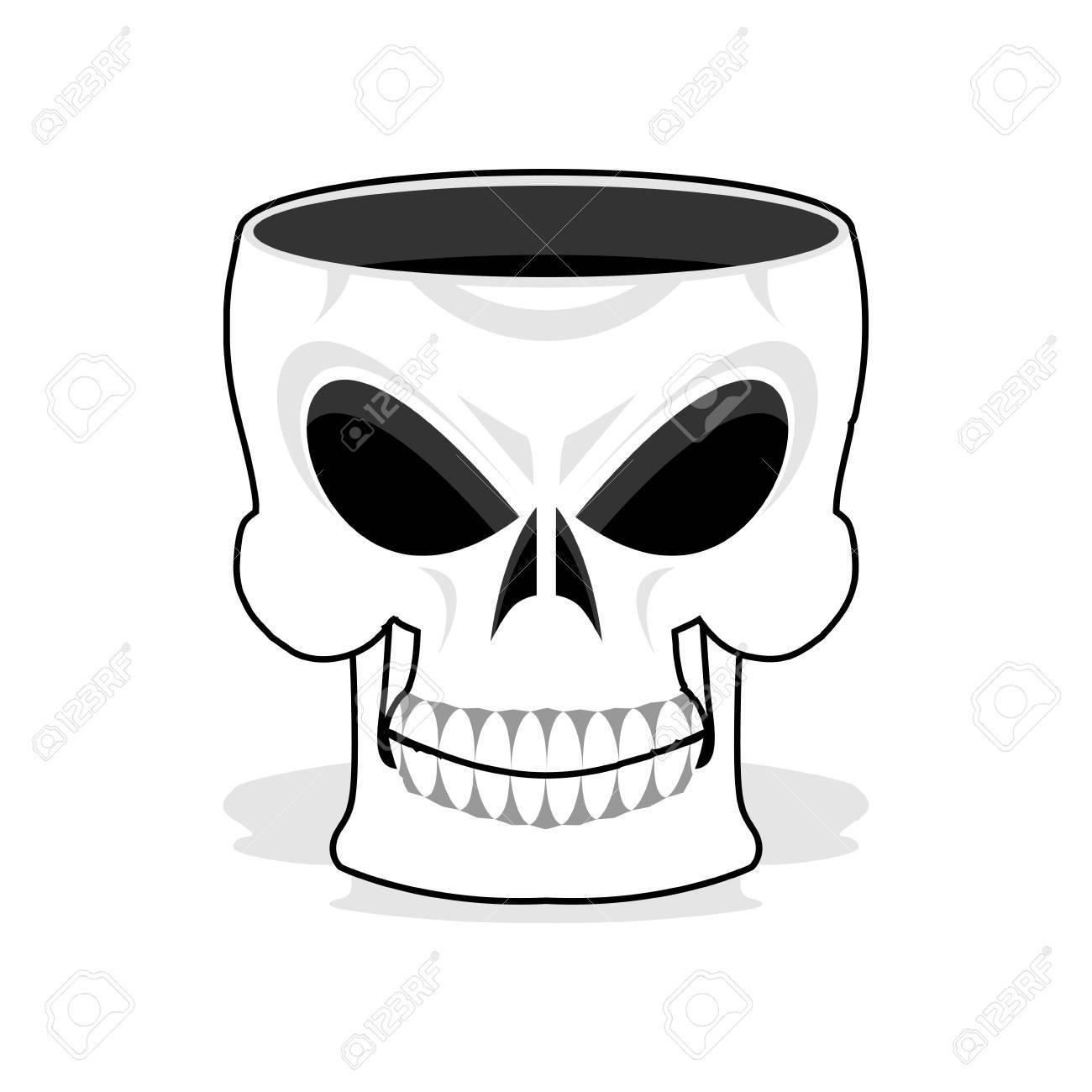 Skull jewelry box. Skeleton basket. Terrible pirate jewellery - 64469767