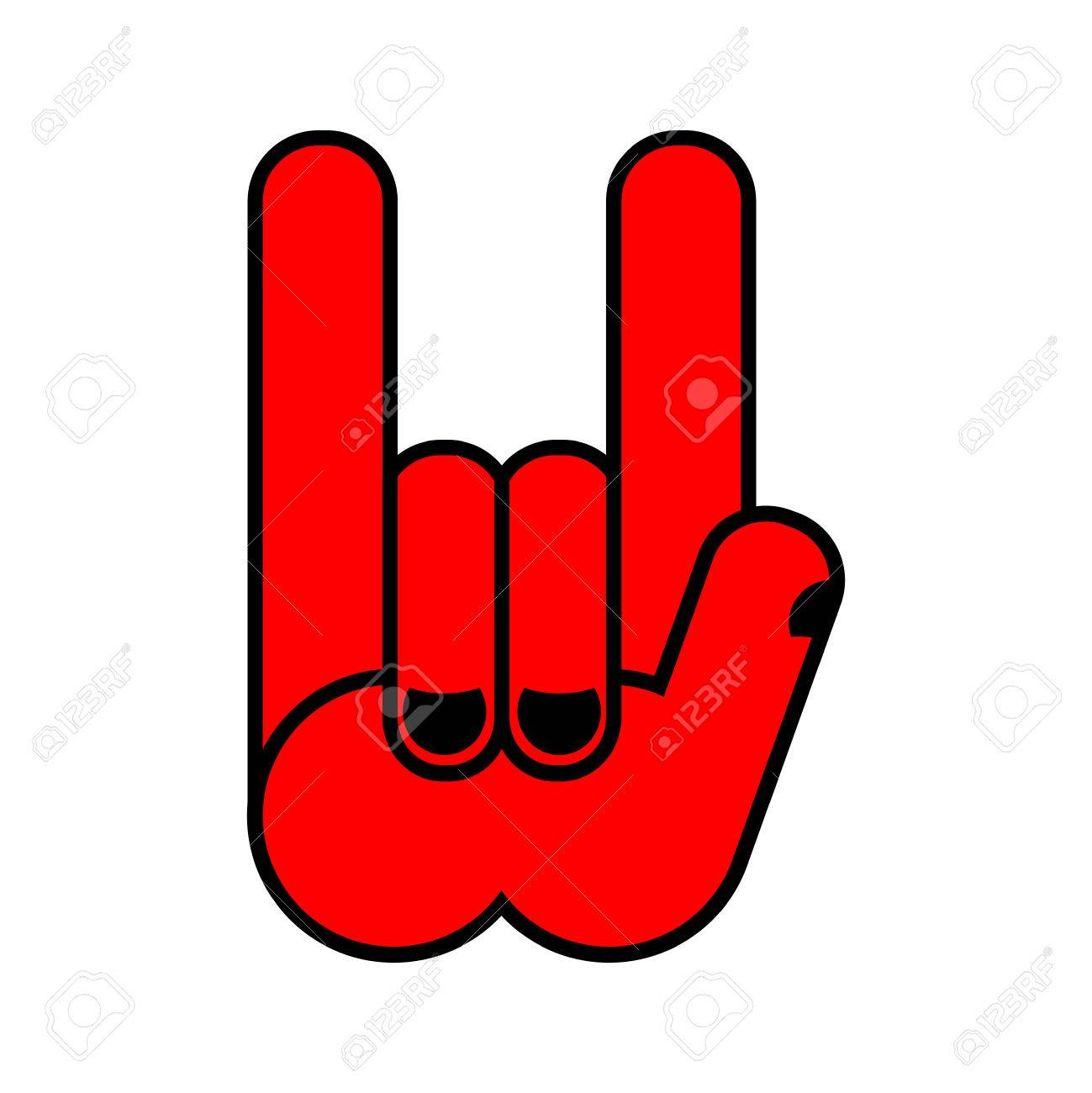 Rock hand symbol of music rock and roll emblem isolated royalty rock hand symbol of music rock and roll emblem isolated stock vector 66675498 buycottarizona