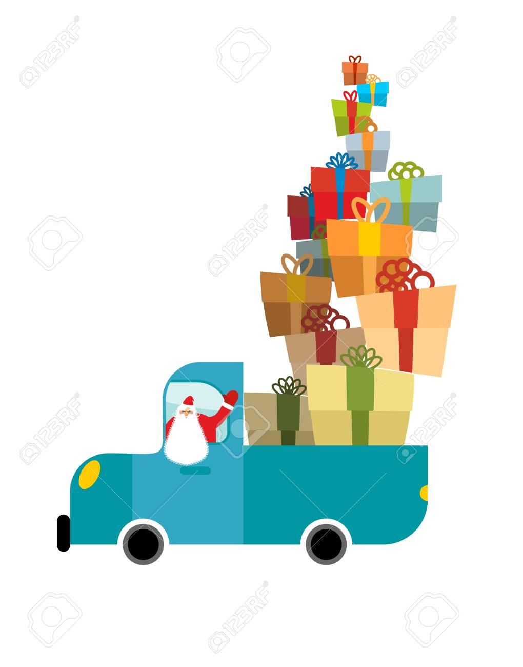 De Santa Camion Autos De Navidad Y Los Regalos Servicios De