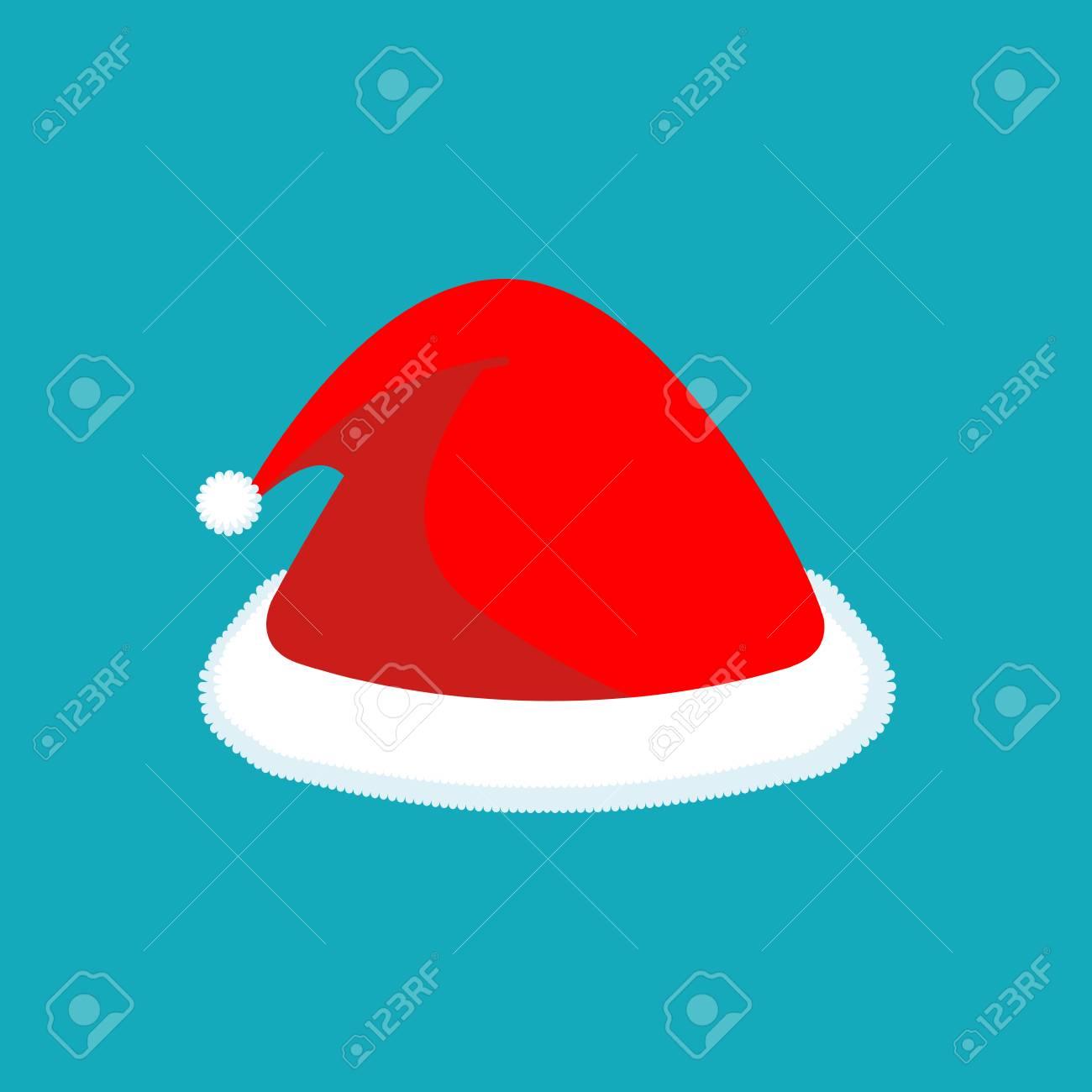 Foto de archivo gorro de santa aislado sombrero rojo de navidad accesorio  festivo ropa de año d0032f5926f