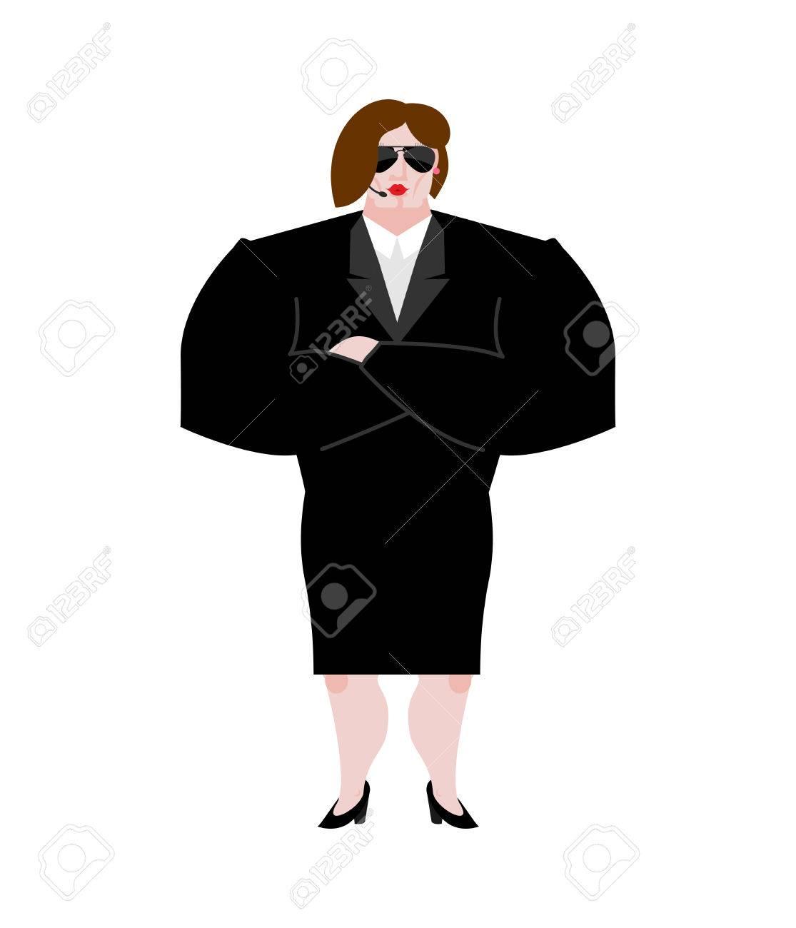 Bodyguard Sur Fond NuitCostume FemmeForte Boîte BlancLa À Protection Et Garde De Le Noir Mains LibresLady Sécurité Femme Travail QrCedxBoW