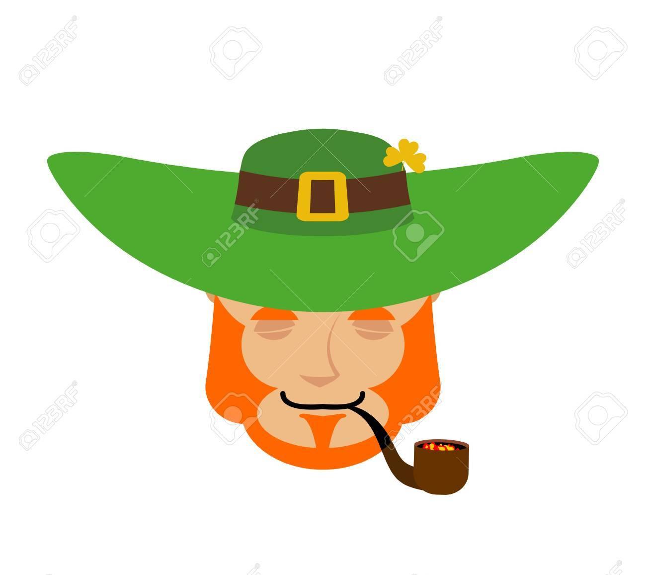 bfdf840764e0b Dwarf with red beard asleep Emoji. Irish elf emotions. Stock Vector