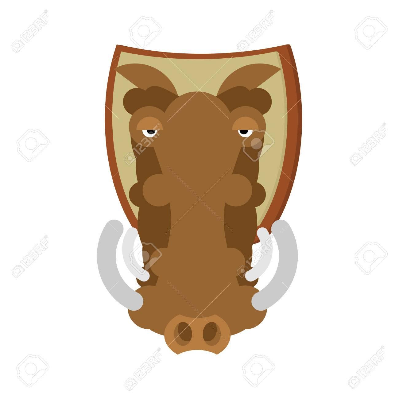 Trofeo De Caza Warthog Cabeza Jabalí En El Escudo Decoración Africana De Cerdo