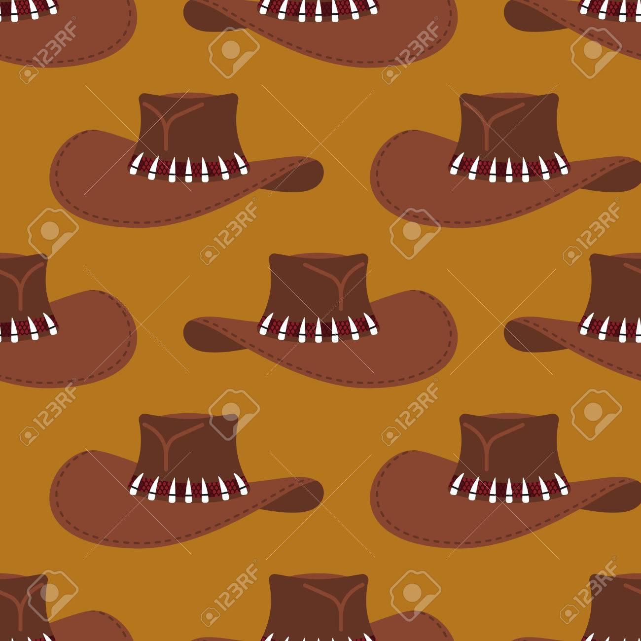 3e0bad638884e Foto de archivo - Patrón de sombrero de vaquero . fondo de la caza  australiana . ropa y rodeo