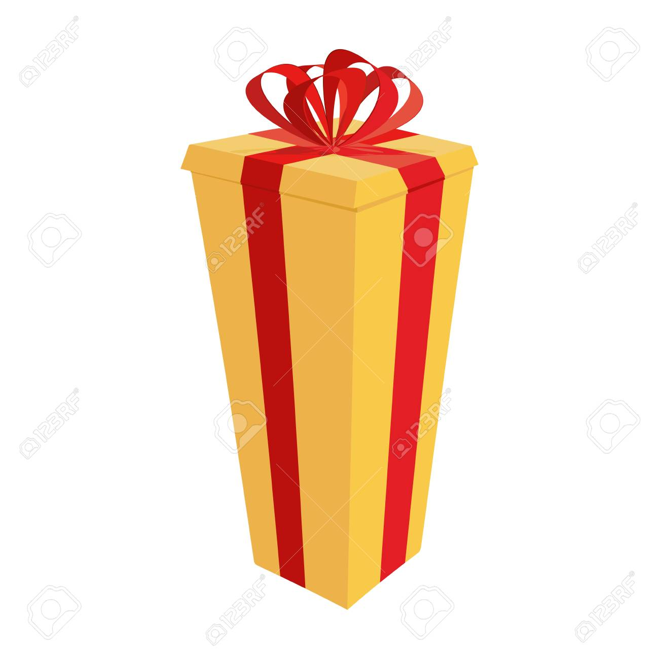 Big Gift Box Festive Tall Gift Vector Illustration For New Year Royalty Free Cliparts Vectors And Stock Illustration Image 90320755