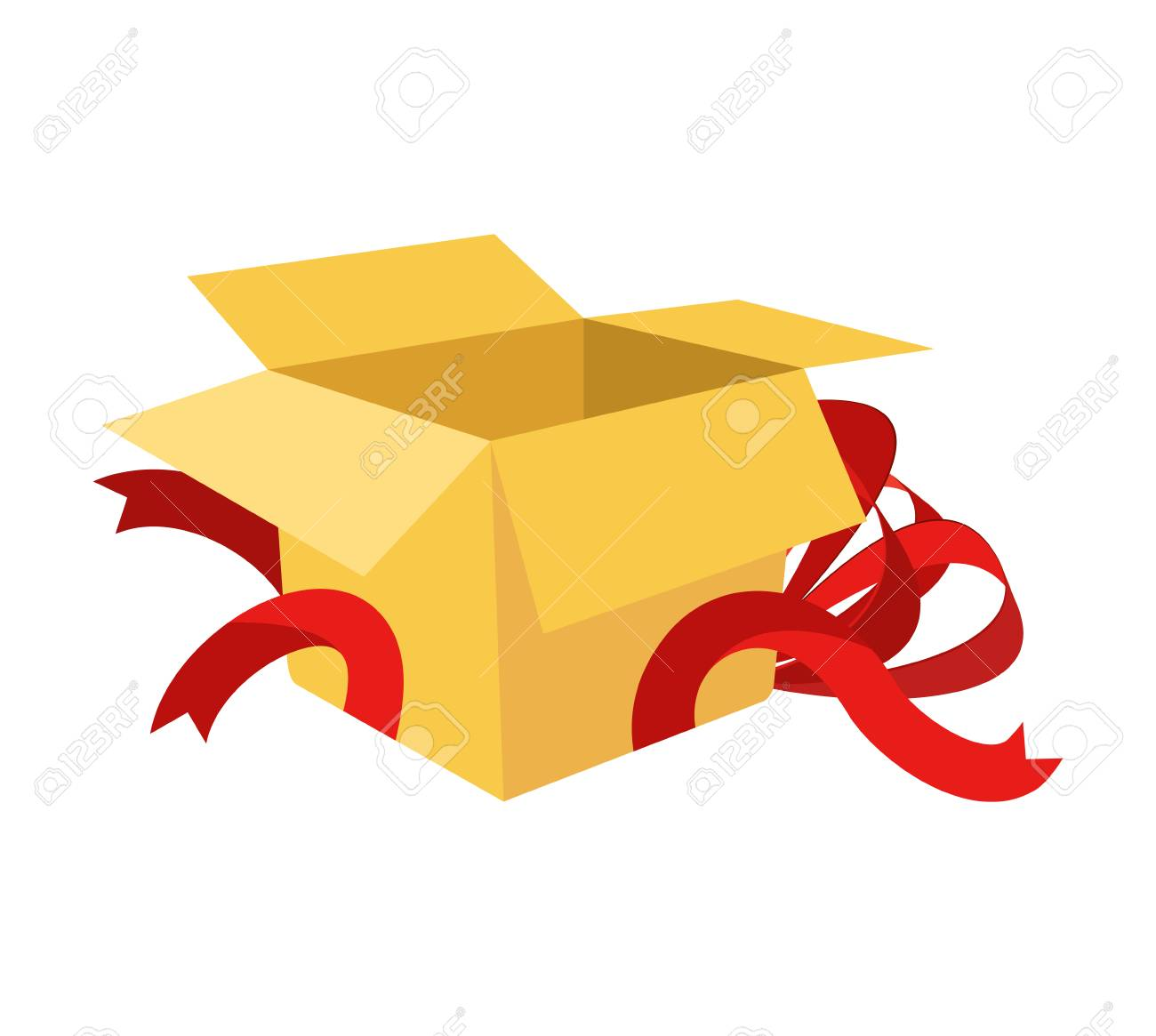 Open Gift Box With Ribbon Royalty Free Cliparts, Vectors, And Stock  Illustration. Image 25118082.