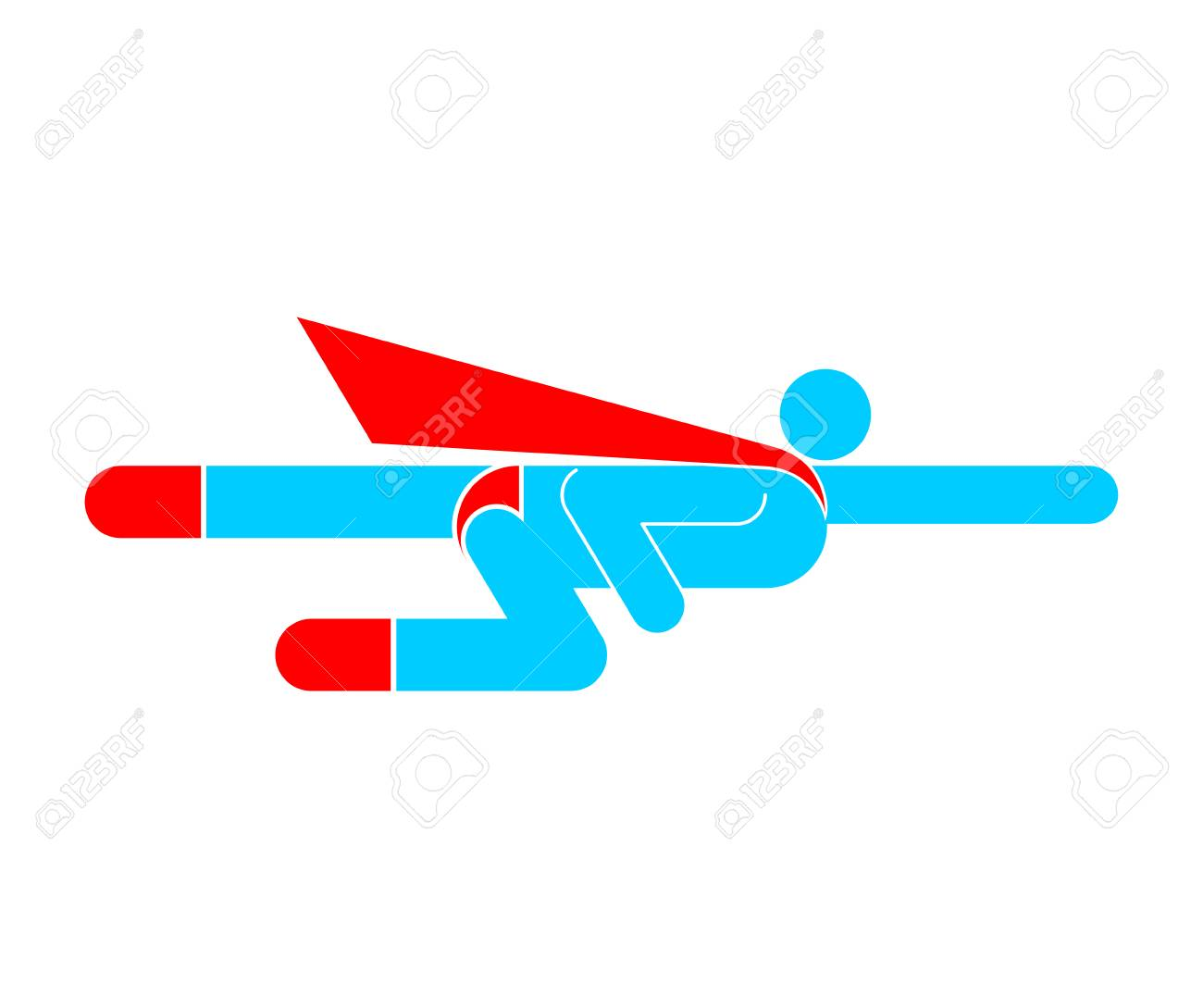 Superhero Pictogram. Super Hero Sign Symbol. Man Flying Icon ...