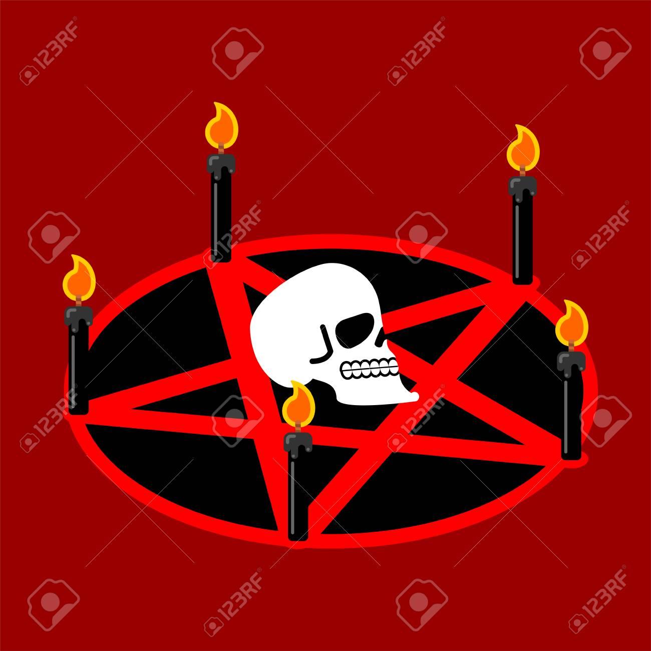 Pentagram Of Devil Satan Sign Ritual Symbol Call Daemon Black