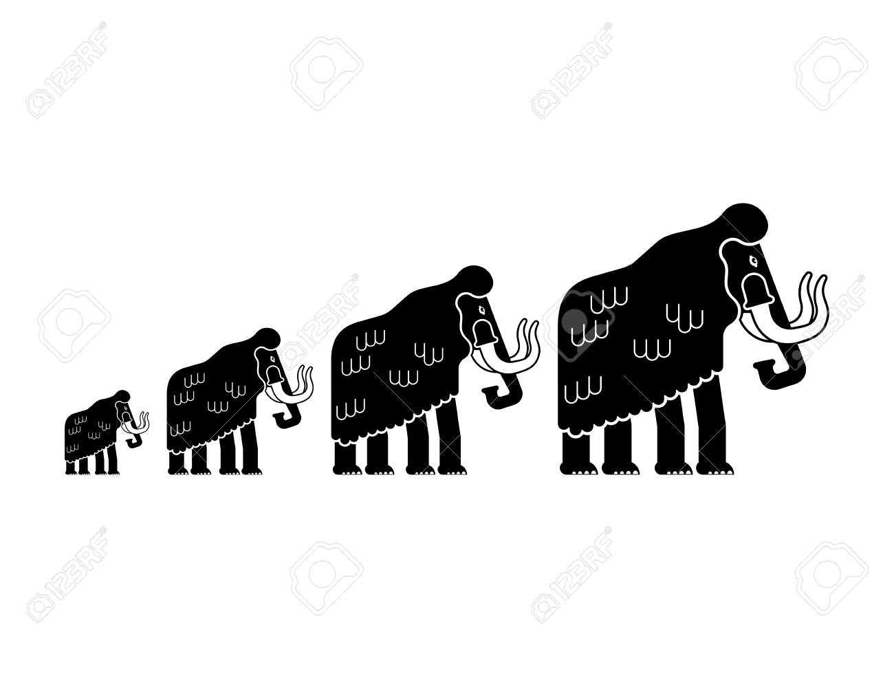 Isolated Silhouettes Of Elephants - Vector - Download Free Vectors, Clipart  Graphics & Vector Art