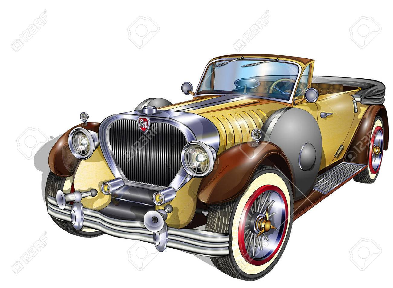 Vintage Car Royalty Free Cliparts, Vectors, And Stock Illustration ...