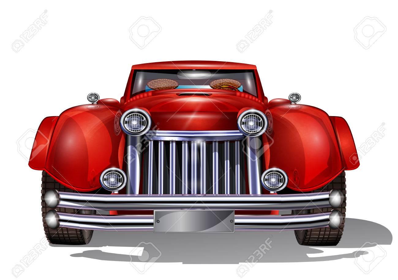 Retro car. - 50143015