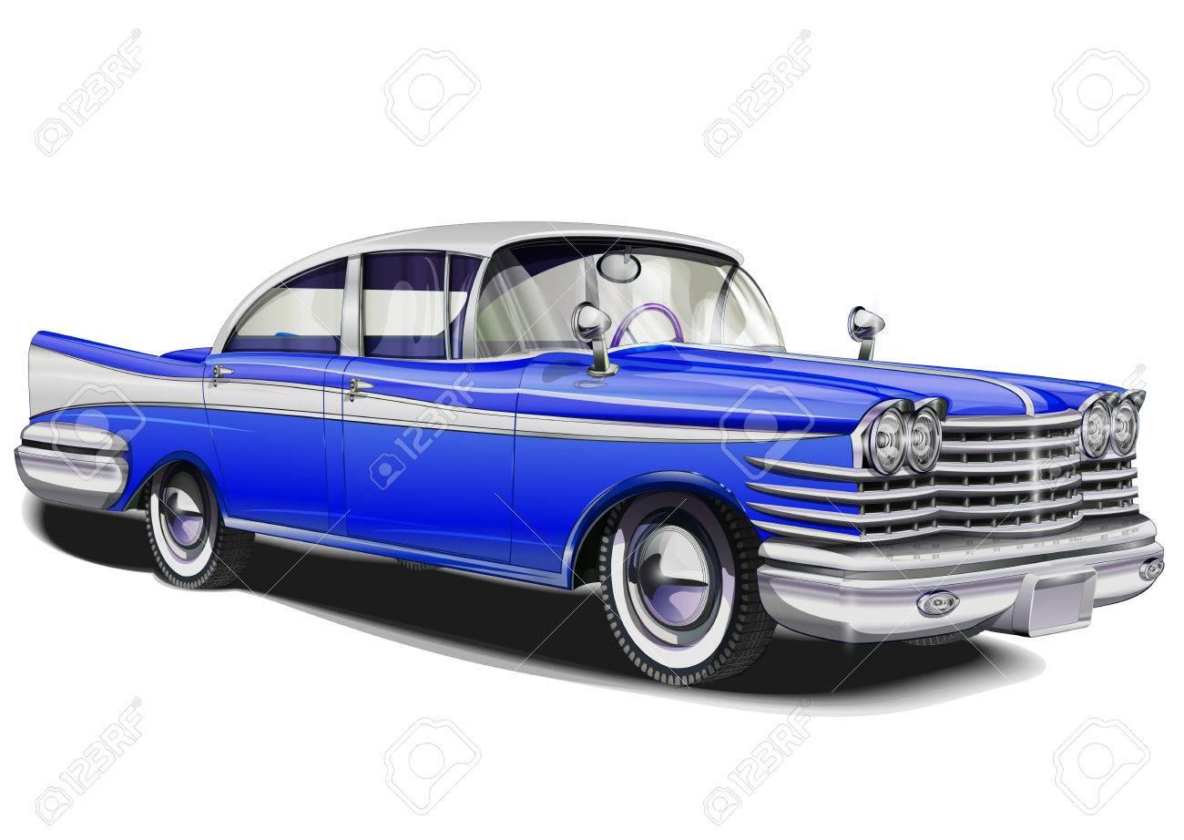 Retro car. - 50143098
