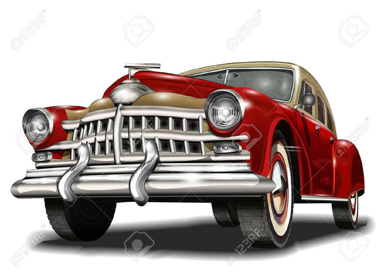 Retro car. - 50143106