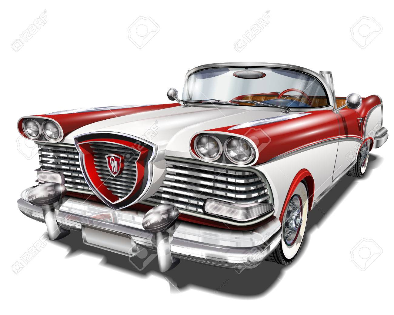 Retro car. - 55952650