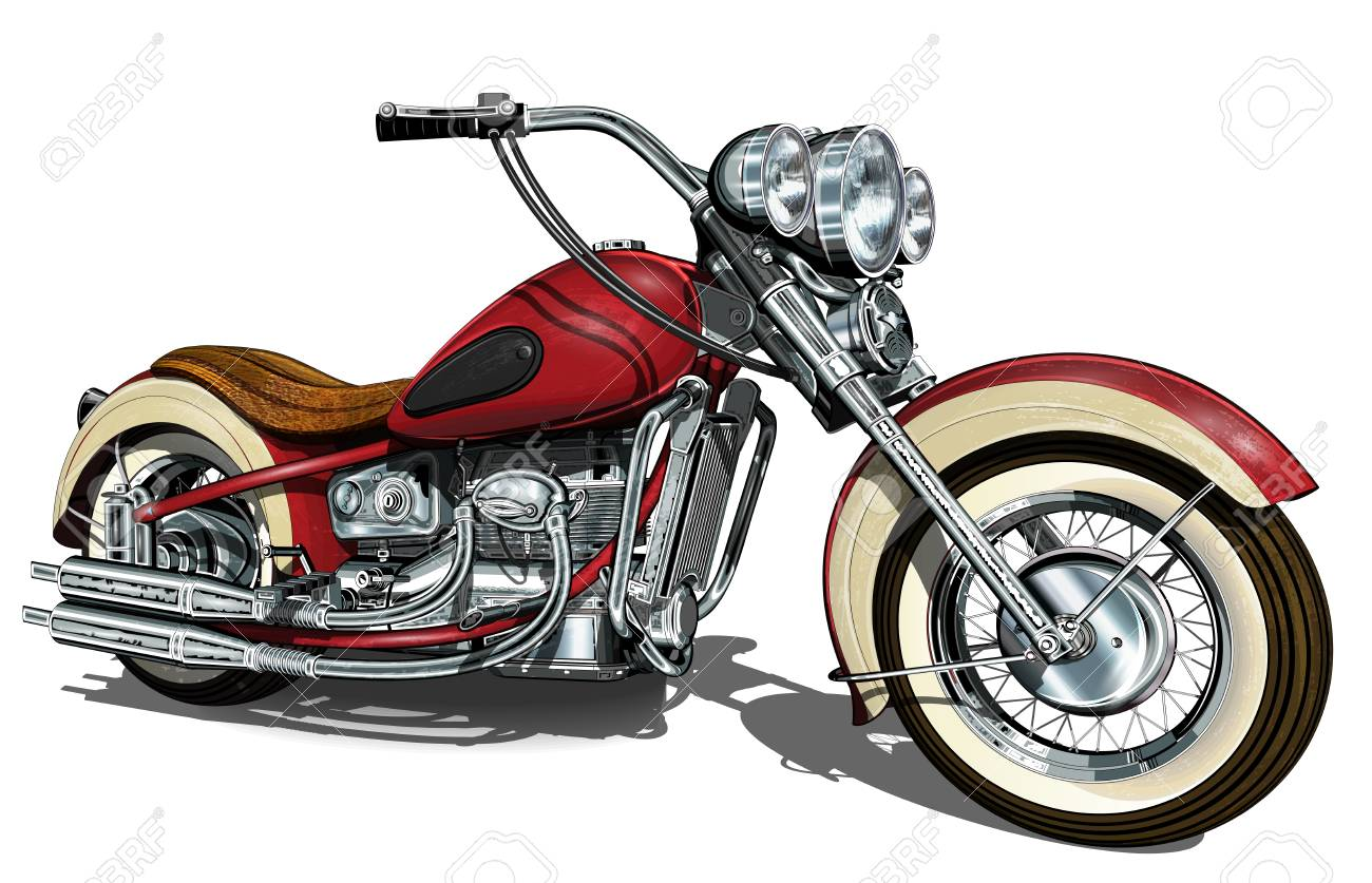 Classic vintage motorcycle. - 83375089