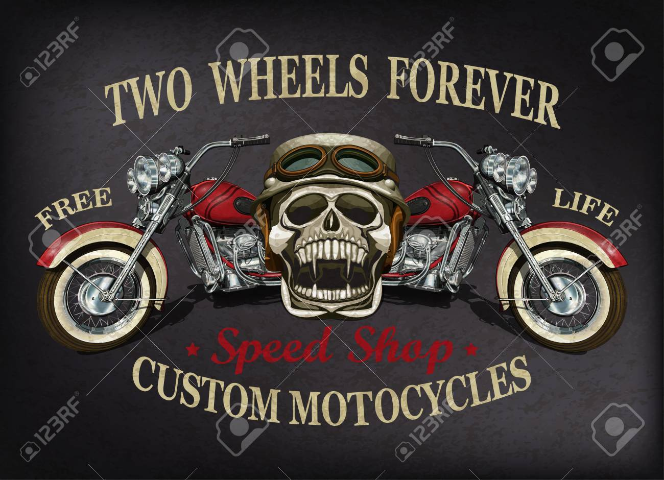 487fe7896 Vintage custom motorcycle poster , t-shirt print. Stock Vector - 84994645