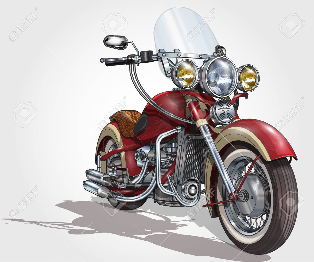 Classic vintage motorcycle. - 87933923