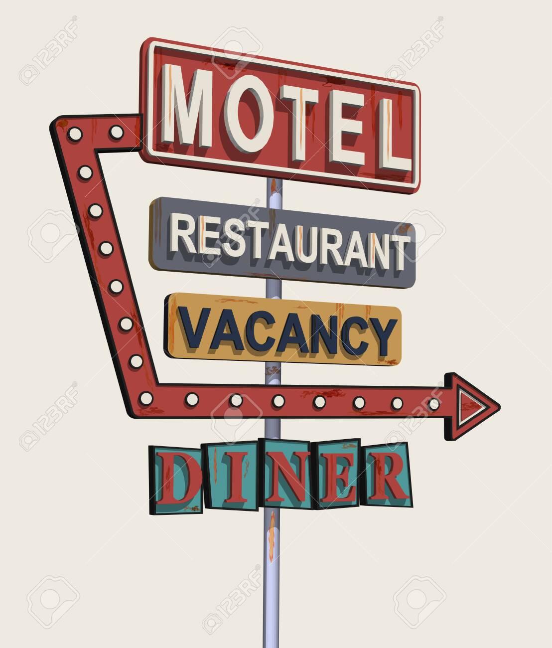 Tin Sign XXL World Tour  Diner 1950