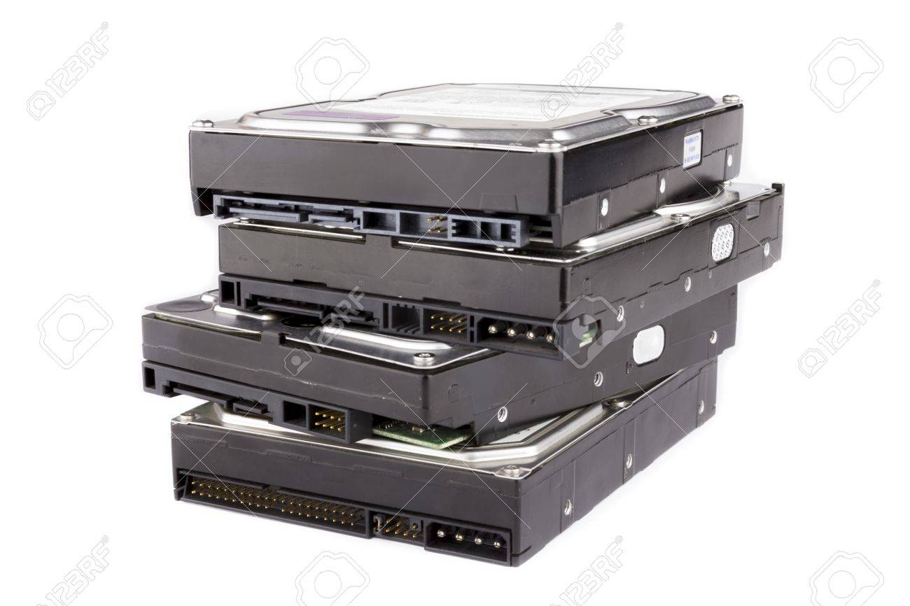 Stack of hard drives - 14387823