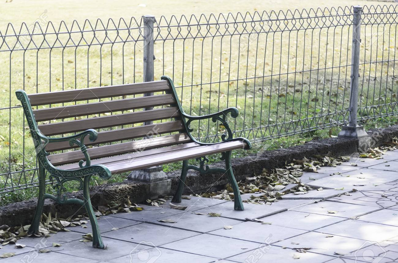 Old Wooden Benches In A Public Park Stock Photo Picture And Royalty