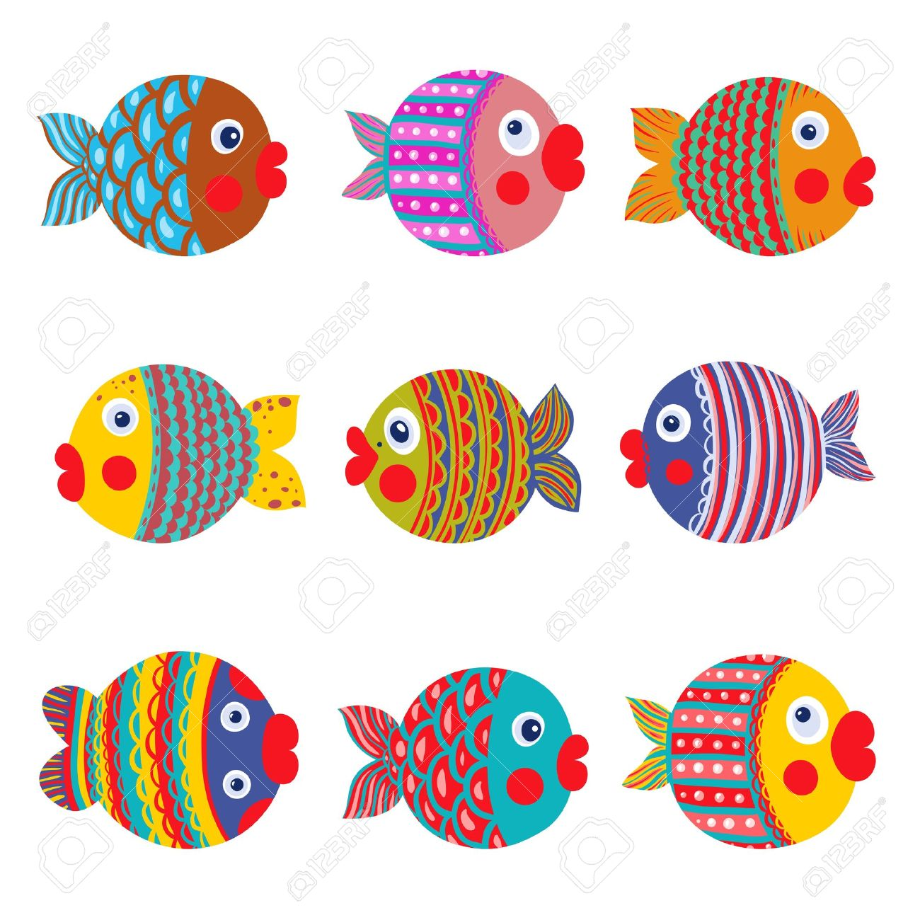 10 598 fishes ornament cliparts stock vector and royalty free