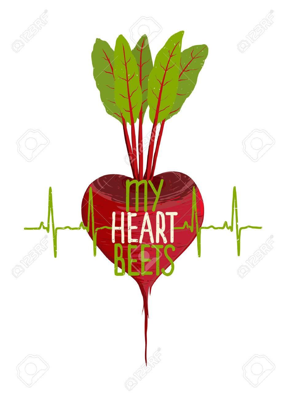 Rote Bete Herzform Motivation Gemuse Diat Konzept Lizenzfrei