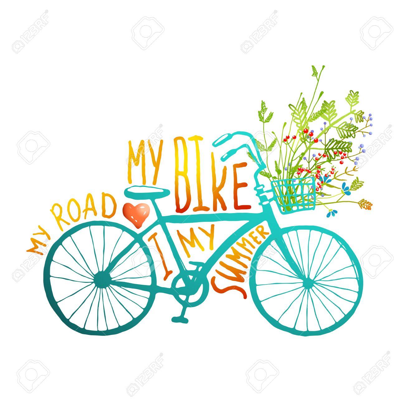 Fahrrad Karte.Stock Photo