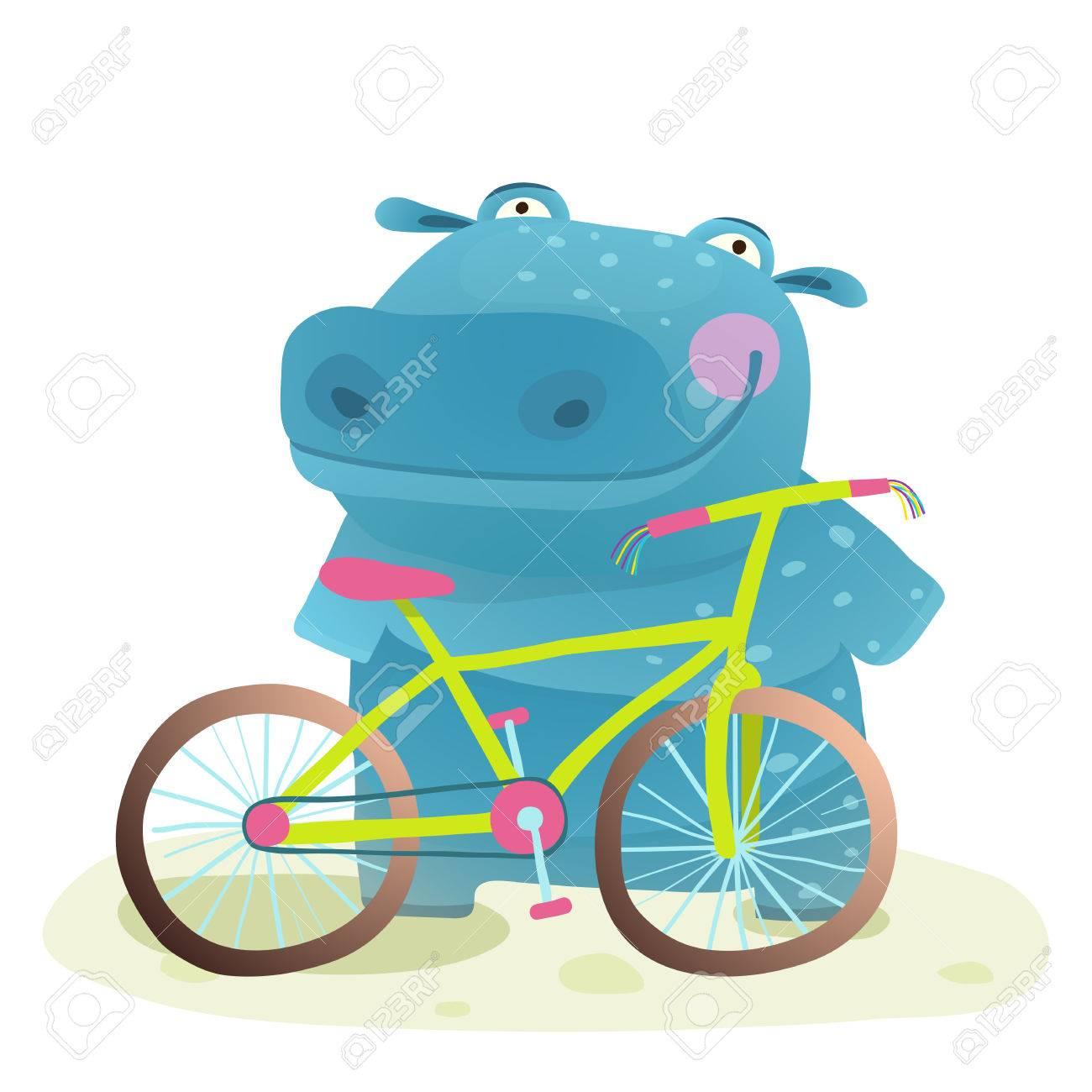 Con Haciendo Animal Salvaje Hipopótamo BicicletaDiversión Feliz La kOPX0nw8