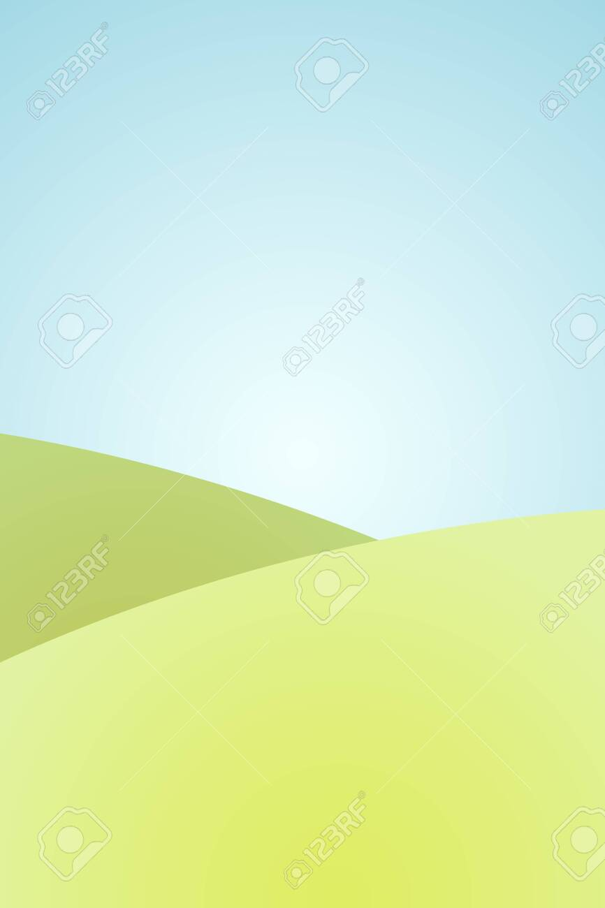 Cartoon Simple Grass Landscape Background With Blue Sky Royalty Free Cliparts Vectors And Stock Illustration Image 122863872