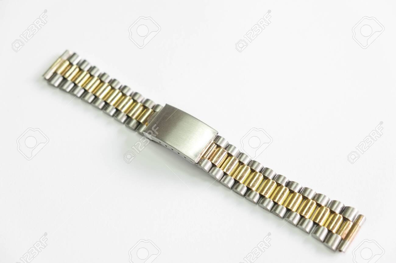 metal watch strap object isolate on the white background - 144043983