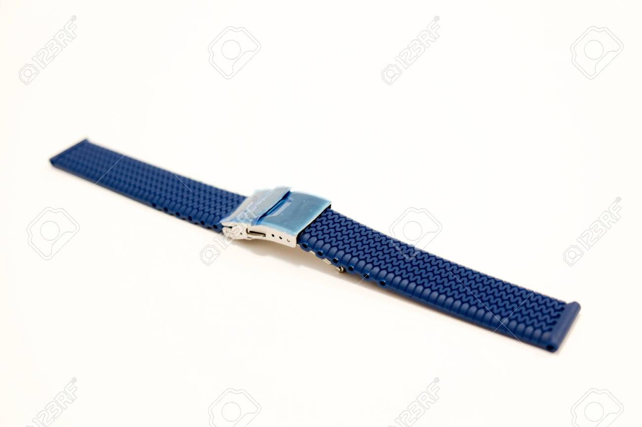 silicone watch strap object isolate on the white background - 144044128