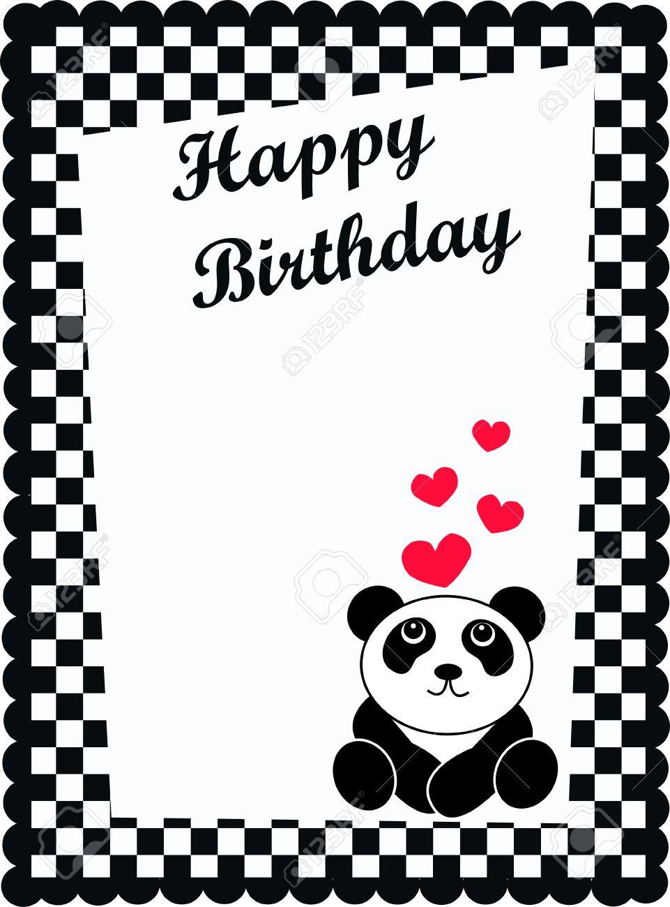Happy birthday card with a cute panda bear royalty free cliparts happy birthday card with a cute panda bear stock vector 7558814 bookmarktalkfo Image collections