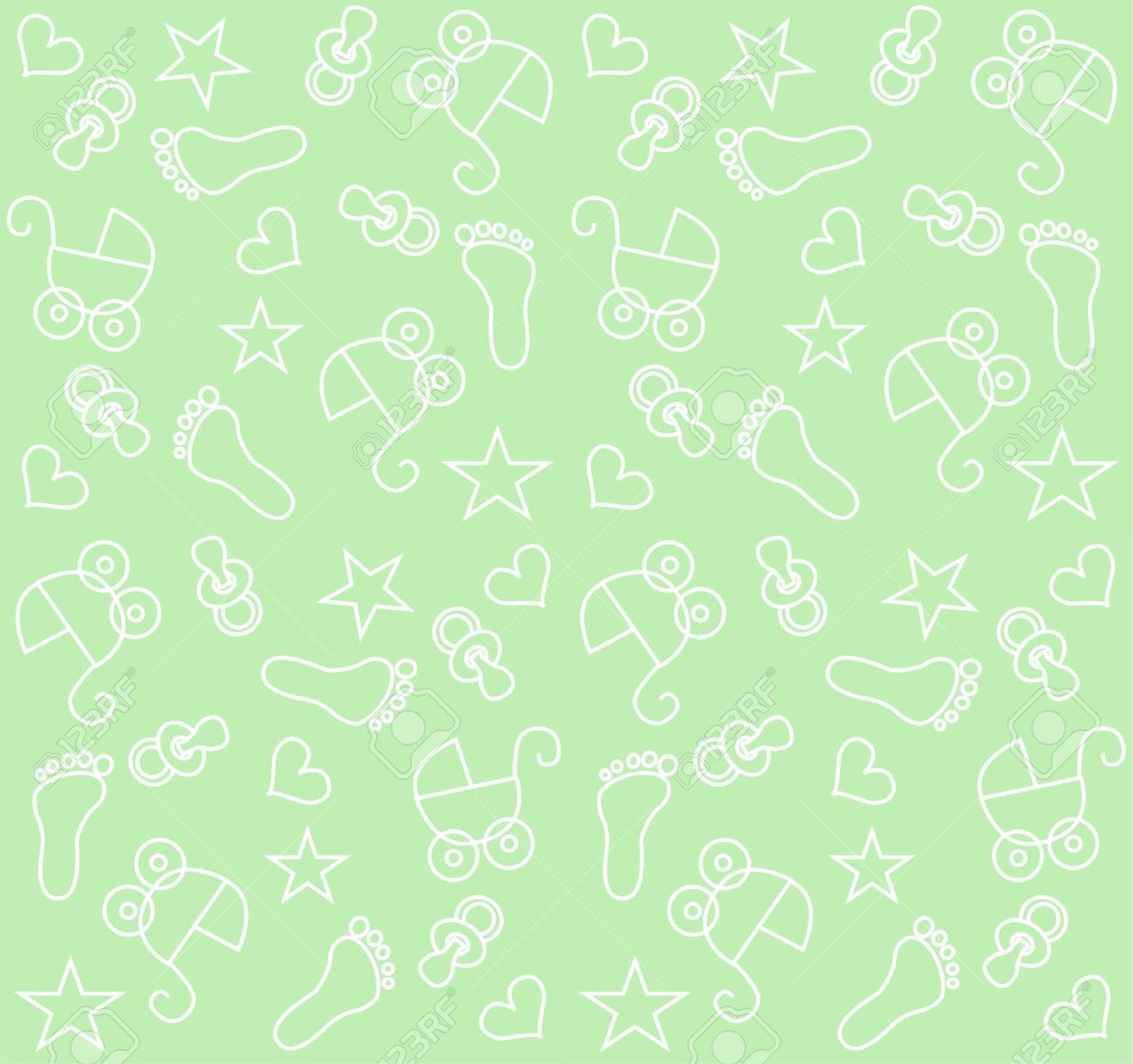 Seamless Baby Unisex Pattern Stock Vector