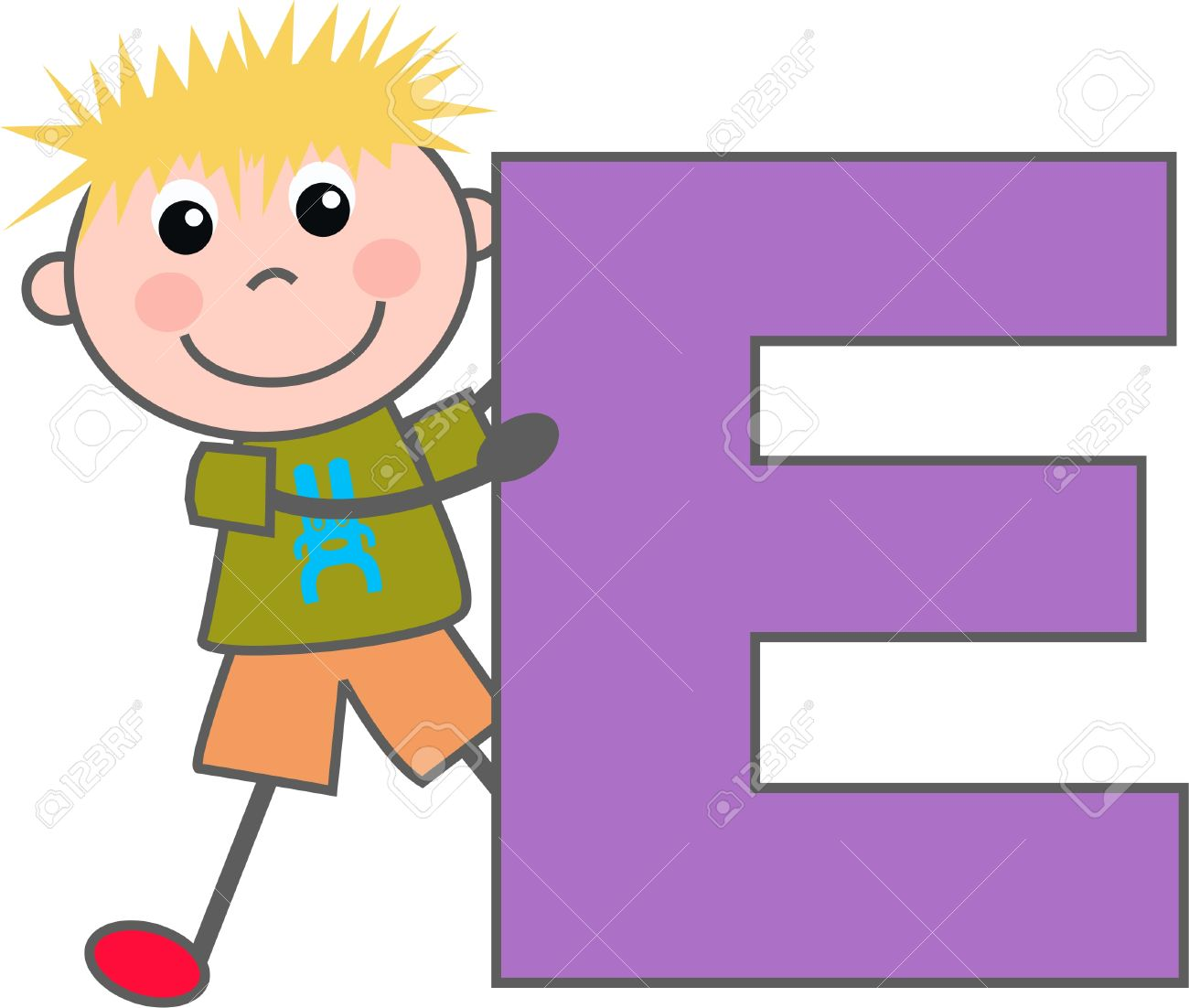 a boy with letter e royalty free cliparts vectors and stock rh 123rf com letter e clipart letter a clip art images