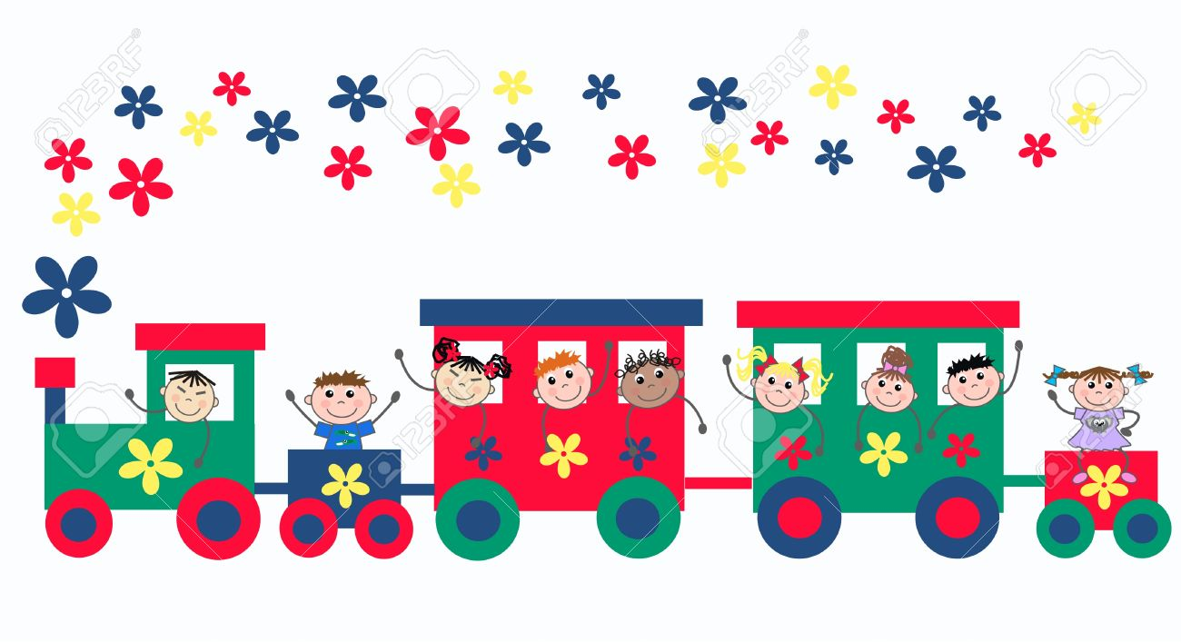train wagons with mixed kids - 8208526