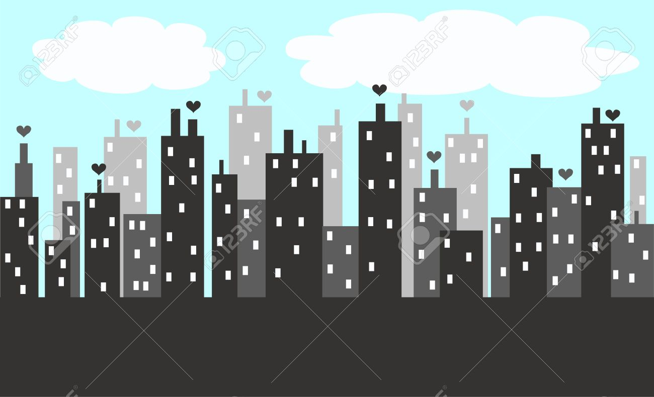city skyline royalty free cliparts vectors and stock illustration rh 123rf com cartoon city skyline vector cartoon city skyline night