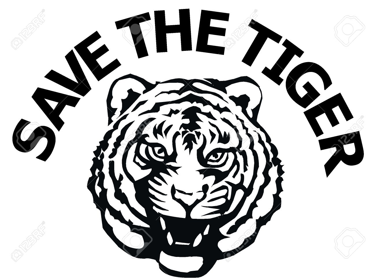 save the tiger Stock Vector - 8549246