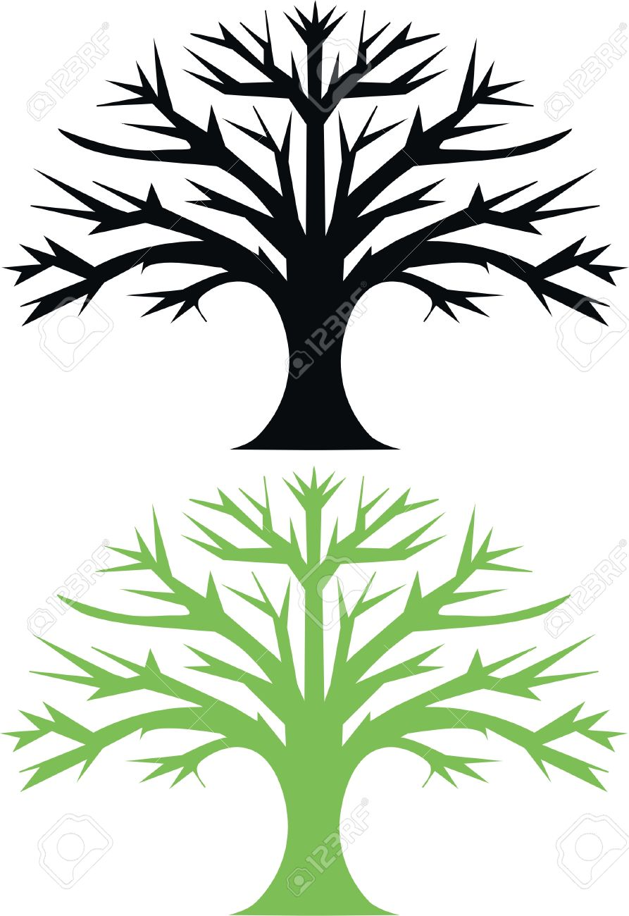 9 936 oak tree silhouette cliparts stock vector and royalty free