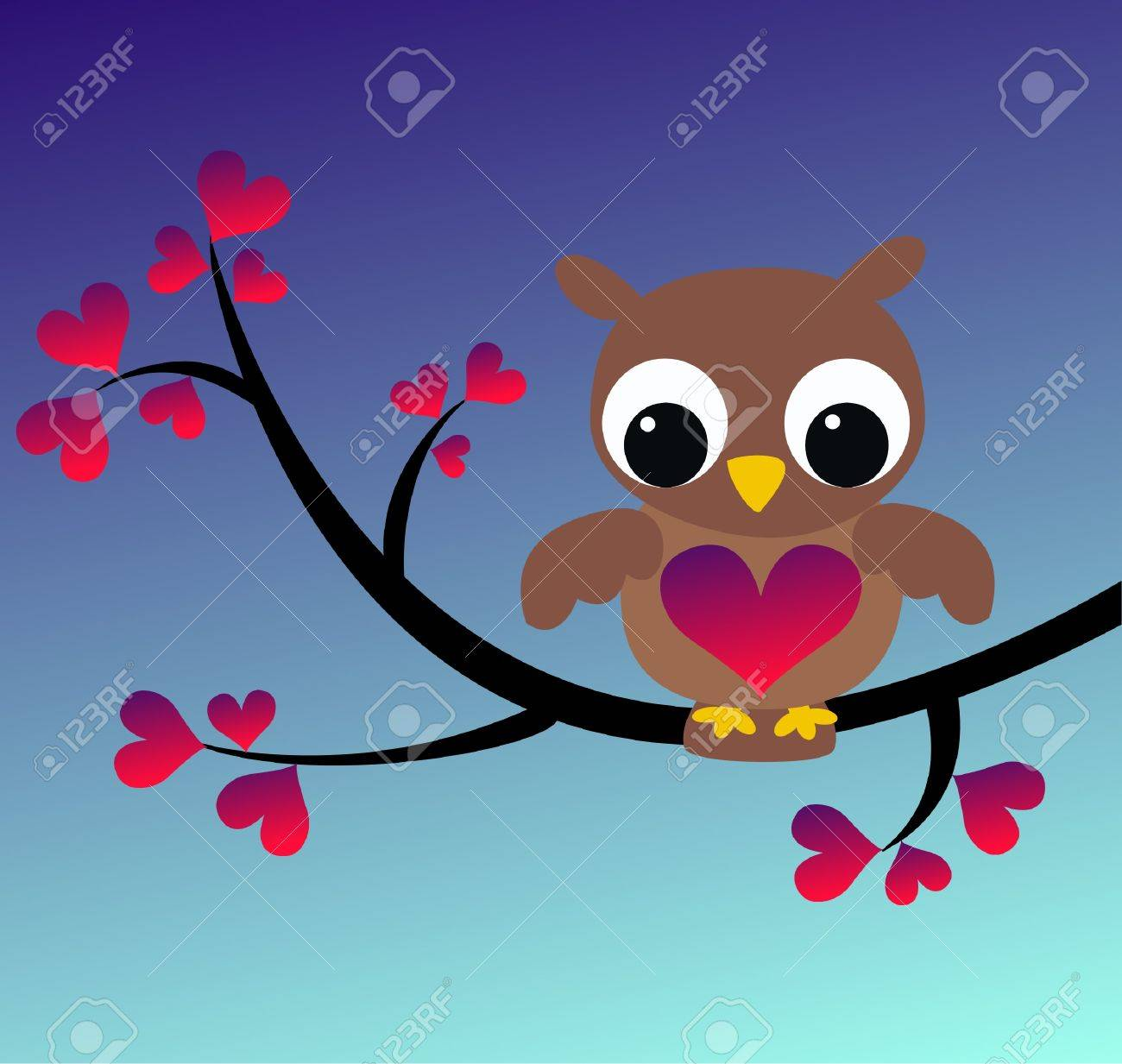 owl sitting on a branch Stock Vector - 8665196