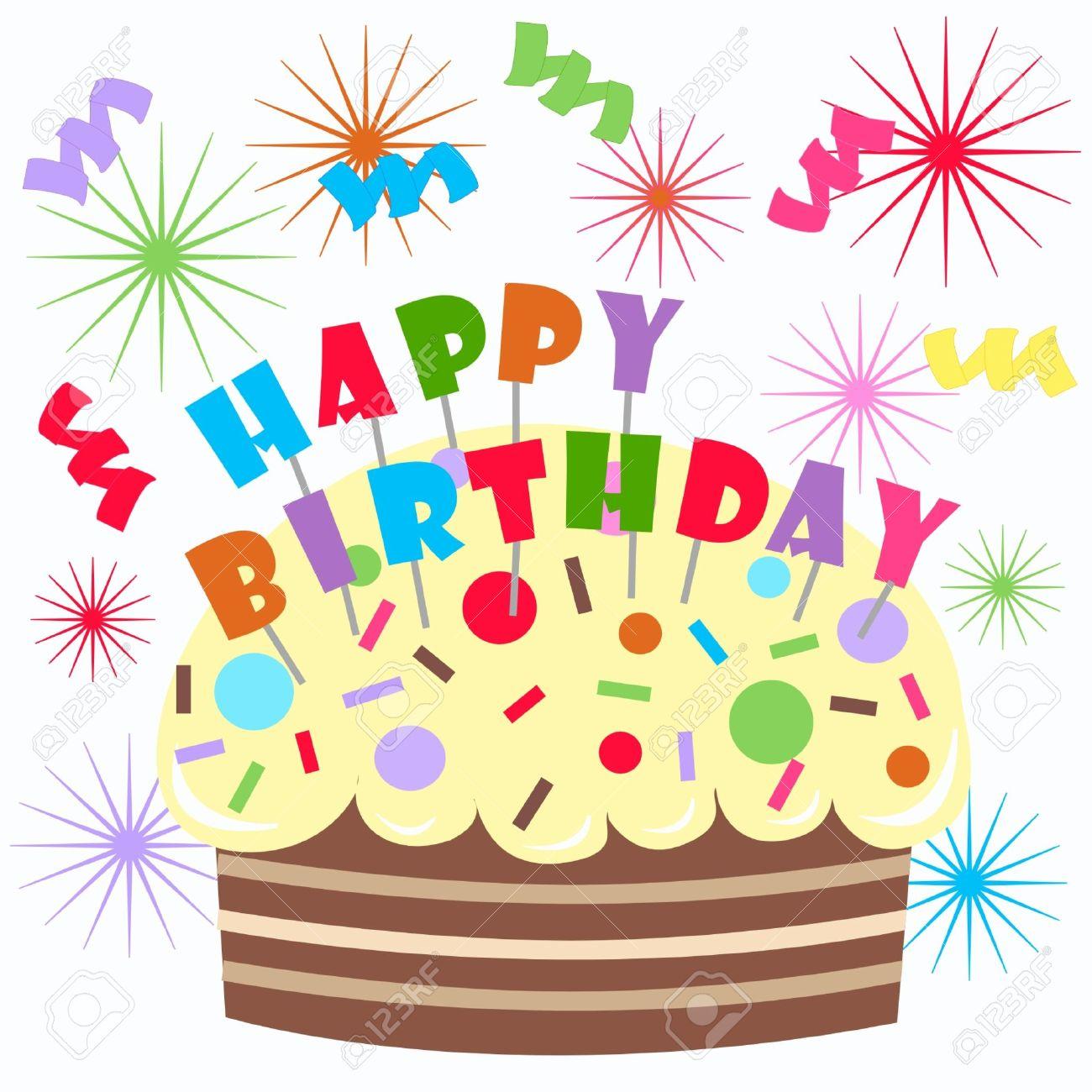 お誕生日おめでとうのイラスト素材ベクタ Image 8767364